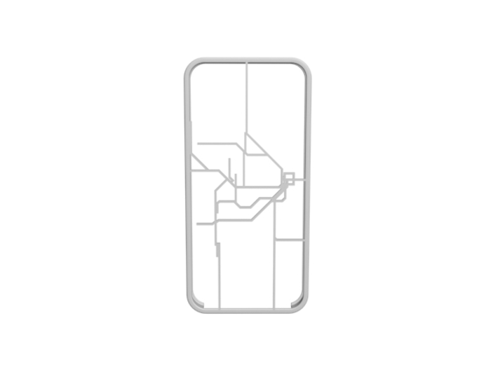 Sydney Suburban Network map iPhone 5s case 3d printed