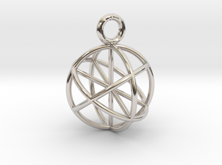 Seed of Life Pendant 20mm 3d printed