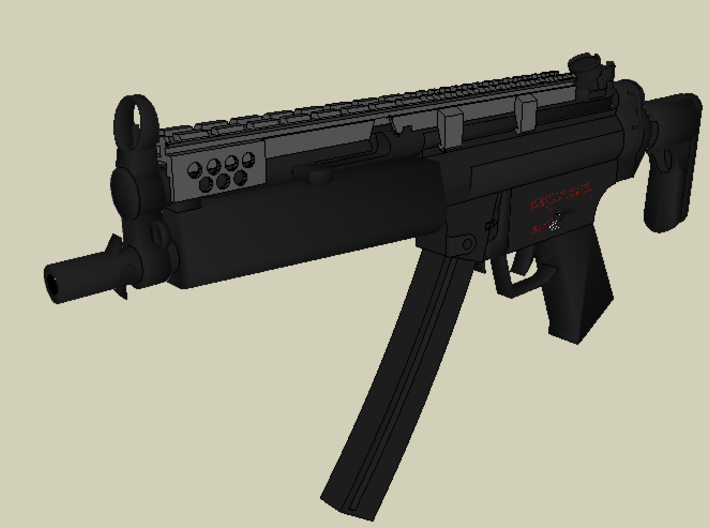 MP5 Full Length Picatinny Rail 3d printed