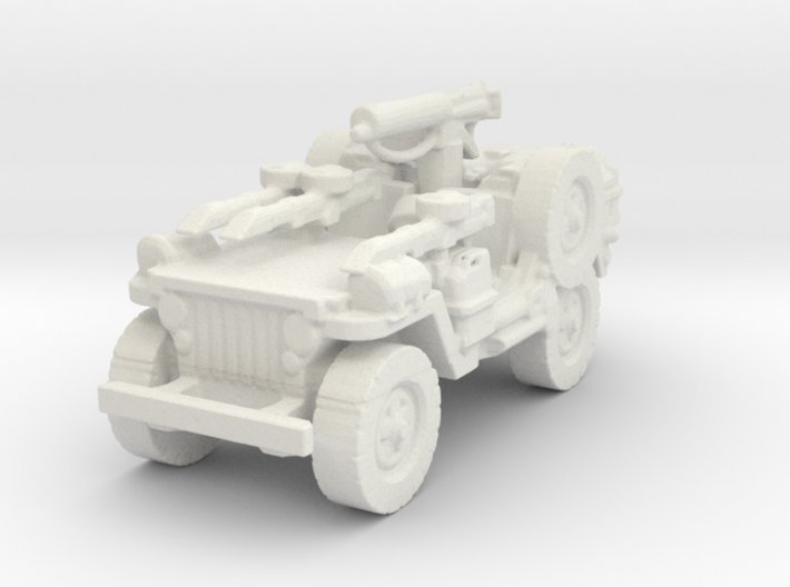 1/72 LRDG Jeep 6 3d printed