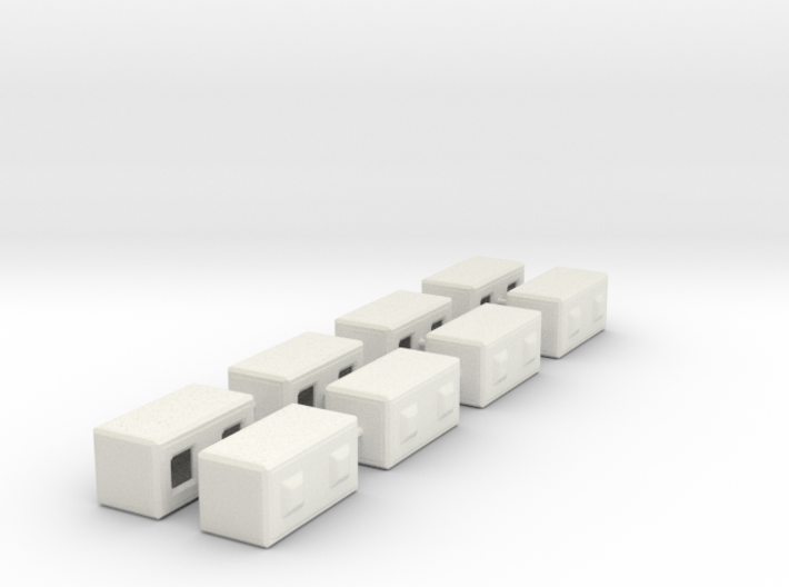 1/87th Precast Barrier Concrete Block 3d printed