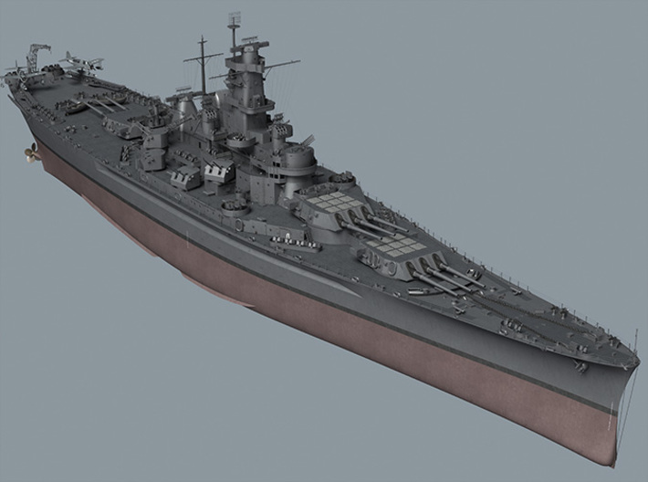 1/700 US South Dakota Superstructure 5 3d printed