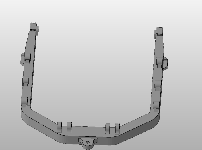 1:50 C Frame for Cat D8R models.  3d printed