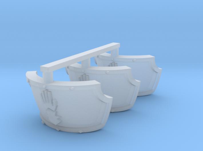 Steel Handed Warriors Centaur shoulder pads #1 3d printed
