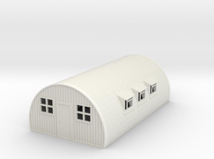 1/76th (20 mm) scale Nissen hut 3d printed