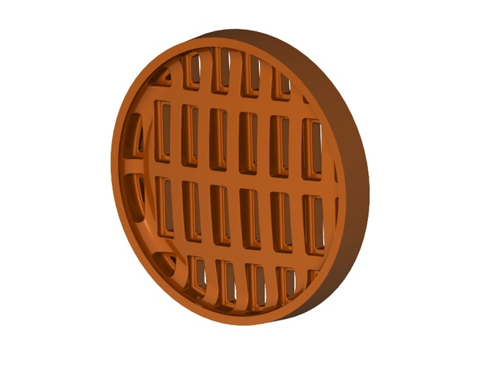 Heavy Drain Grate Set 1/32 scale 3d printed Back side of grate