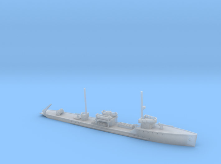 1/600th scale Fugas class soviet minelayer ship 3d printed