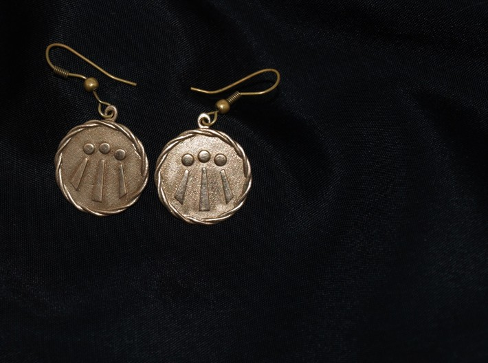 Celtic Awen Earrings v2 3d printed