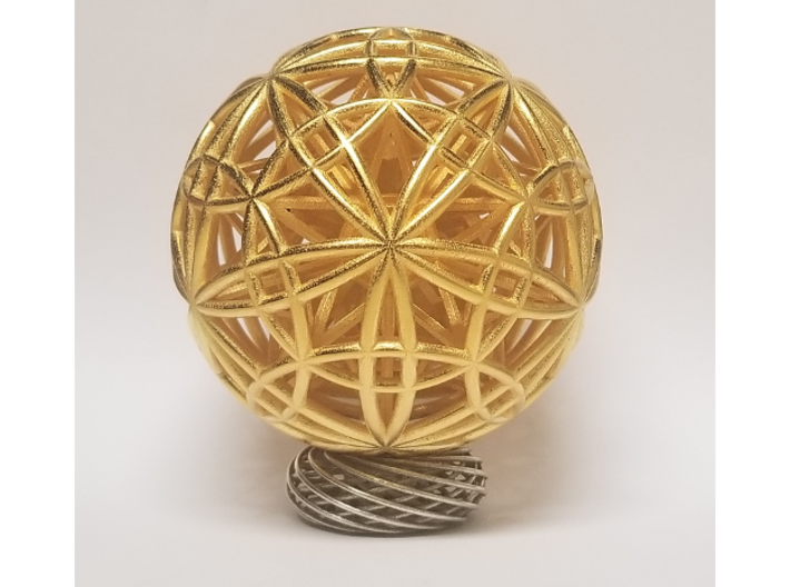 "Sphere of Sacred Union 4"" 3d printed"