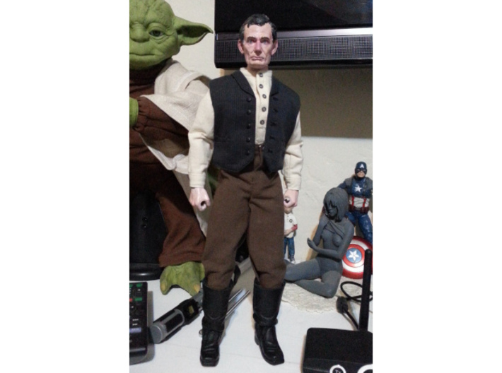 1:6 scale Abe Action figure sculpt 3d printed Attached to the action figure