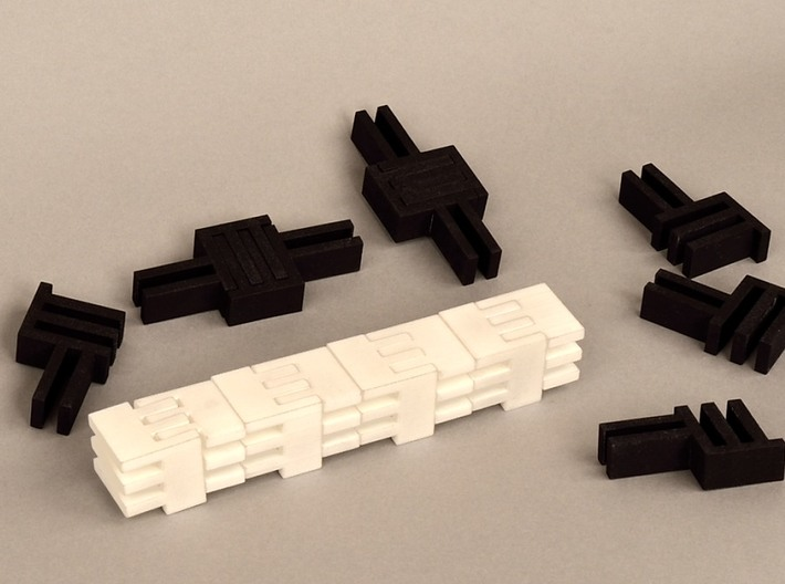 Puzzle Cube, Positive, (white) pieces 3d printed abstract reassembly