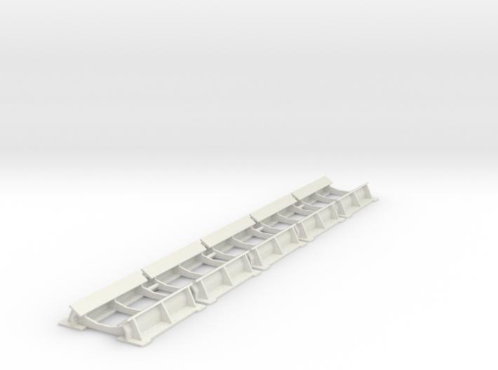 7mm BAA steel coil cradles 3d printed