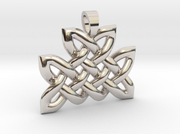 Celtic knot mountain [pendant] 3d printed