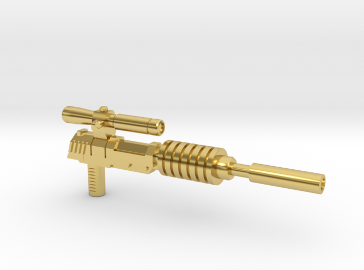 Megatron Pistol, Silenced (3mm & 5mm grips) 3d printed