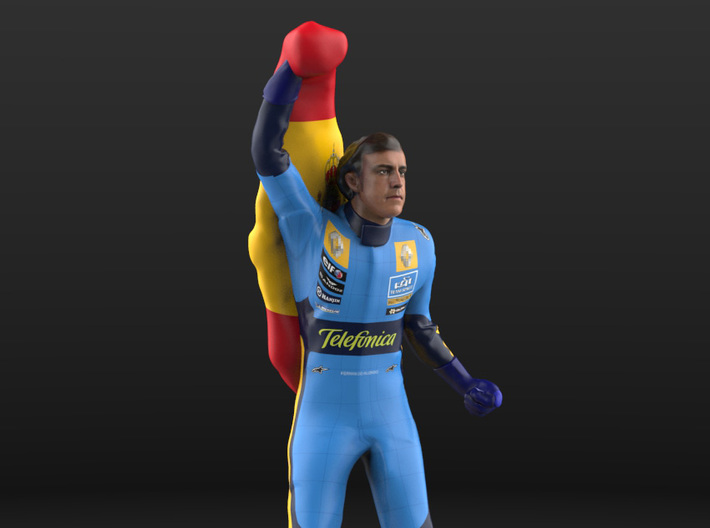 Fernando 1/18 Flag #2 Figure 2005 3d printed