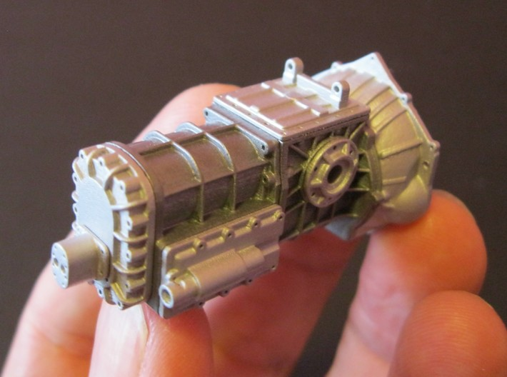 1/16 T-44 Transaxle With Chevy Bellhousing 3d printed