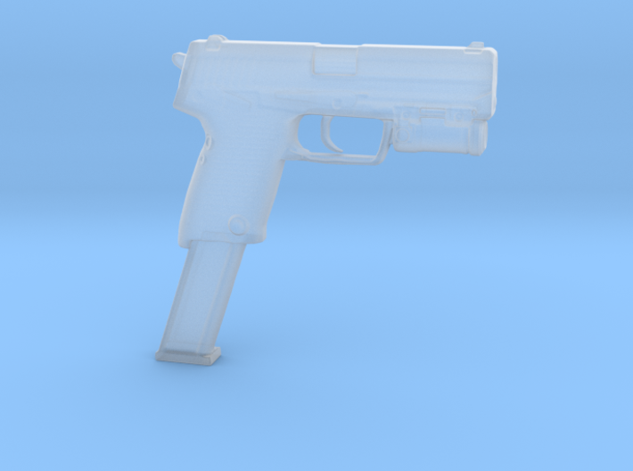 cyberpunk - near future pistol in 1/6 scale 3d printed