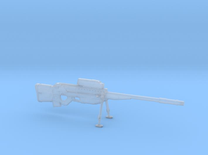 cyberpunk - near future Sniper rifle in 1/6 scale 3d printed