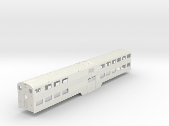 HO Scale Metra Nippon Sharyo Cab Coach 3d printed