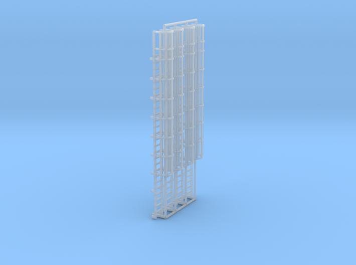 1:100 Cage Ladder 83mm Top 3d printed
