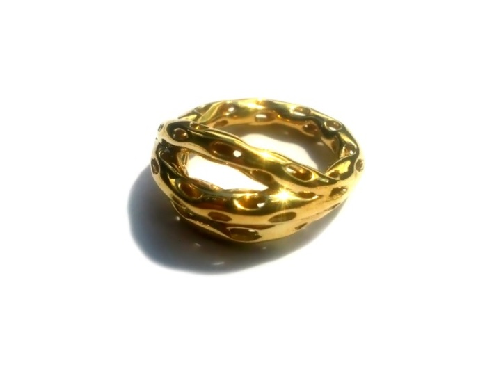 Goldmine Ring 3d printed 14k Gold Plated