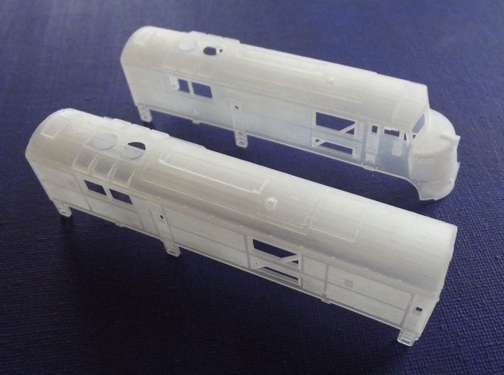 N Scale CNJ Baby-faced Baldwin A and B unit 3d printed
