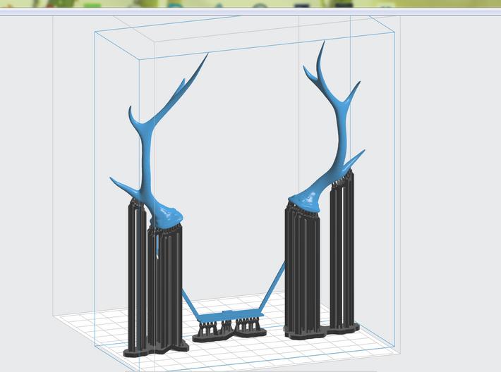 N64 Antlers 3d printed Preform Software