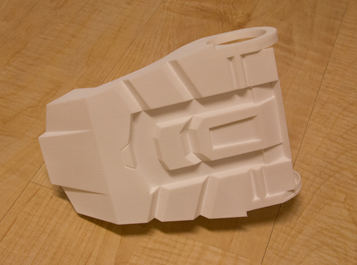Iron Man Boot (Toe with sole) Part 2 of 4 3d printed Actual 3D print using White Strong & Flexible Plastic