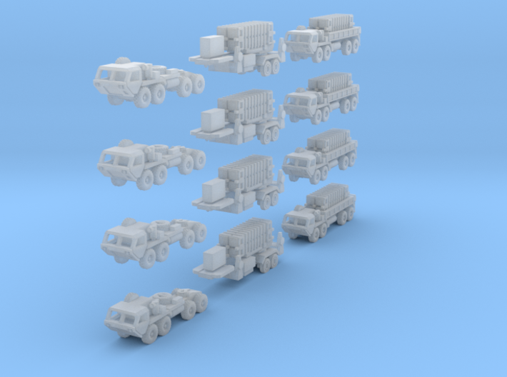 Patriot Missile Convoy 3d printed Patriot Missile Convoy 12-piece set