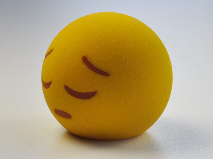 3D Emoji Feelin' Down 3d printed