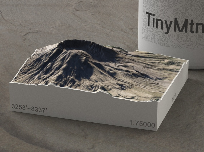 Mt. St. Helens, Wash., USA, 1:75000 Explorer 3d printed