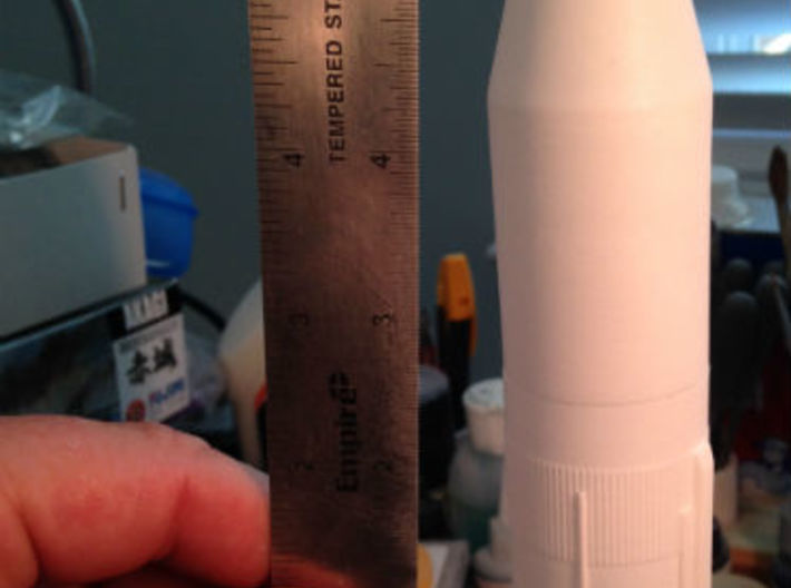 1/200 Skylab Shroud for Saturn V (One Piece) 3d printed WSF+polished two piece stacked