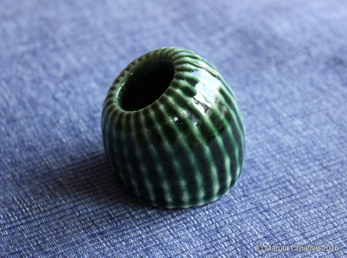 Brain Coral: Jewellery 3d printed Gloss Oribe Green Porcelain