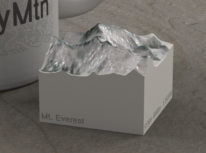 Mt. Everest, China/Nepal, 1:250000 Explorer 3d printed