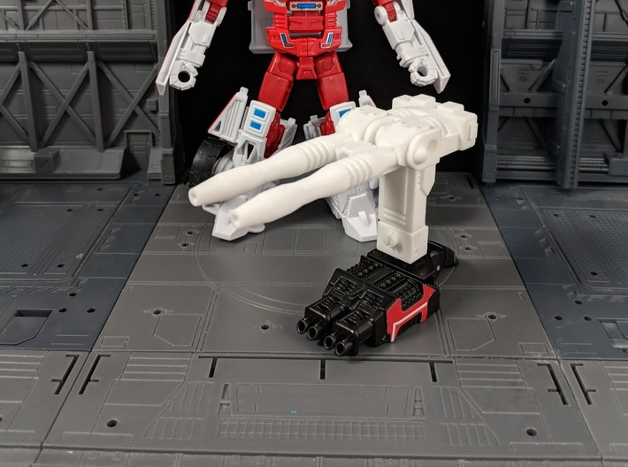 TF CW First Aid XL Car Cannon 3d printed Combined with adapter and Hand/foot accessory