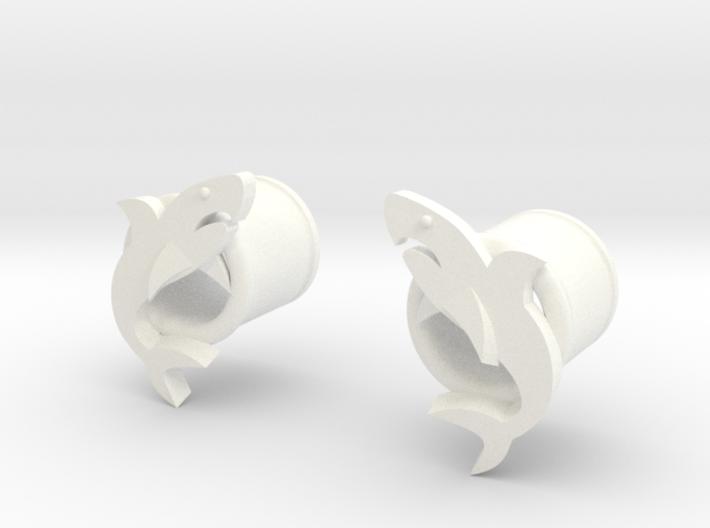 12 mm Sharks Gauges 3d printed