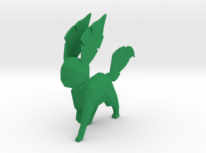 Low Poly Leafeon 3d printed