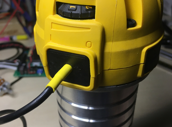 Dewalt 611 Switch Filler 3d printed 611 with part installed