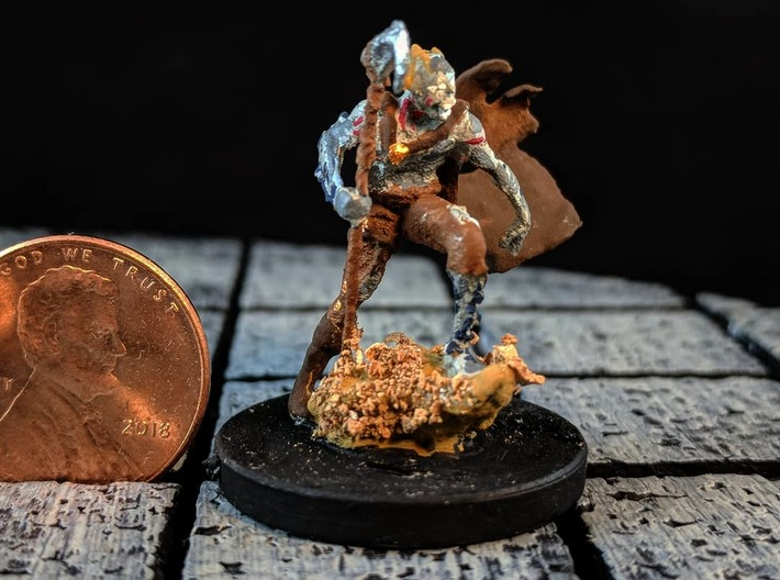 Cliff Ghoul 3d printed An example of how this model could look painted and mounted to a standard base.