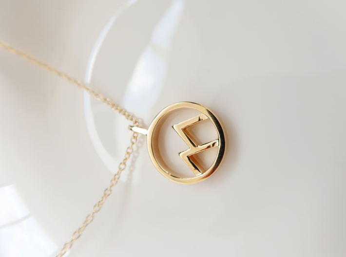 Mountain 3d printed 14k plated Gold