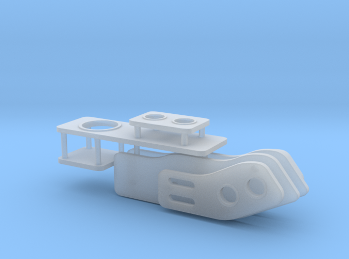 1/24 1/25 VIP (Bippu) front and rear tables 3d printed
