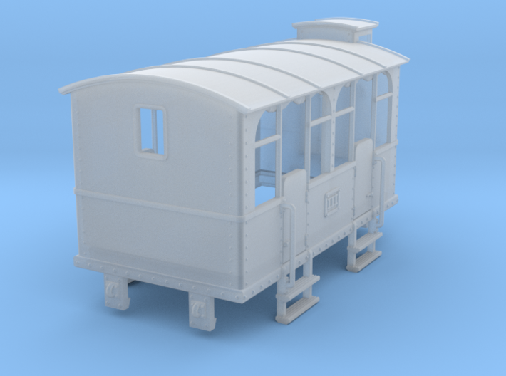 HOe-wagon04 - Crate of passenger wagon N°2 3d printed
