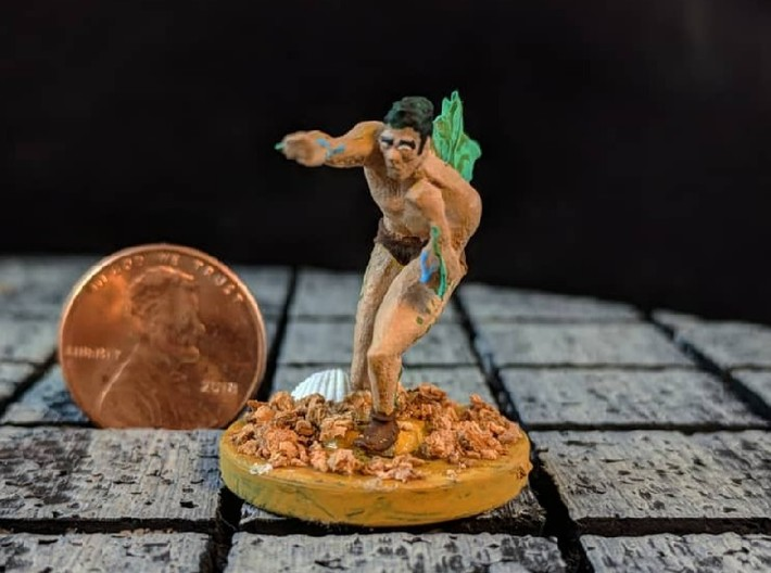 The Mighty Merman 3d printed This is an example of the model painted with a modified base.