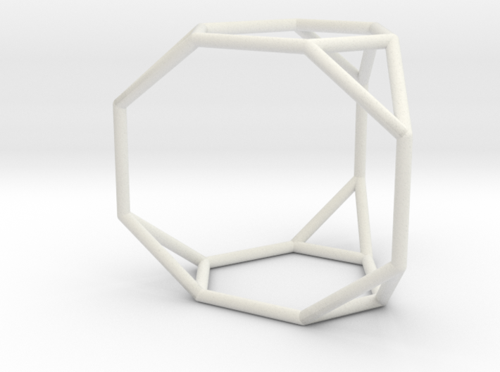 Truncated triangular prism 3d printed