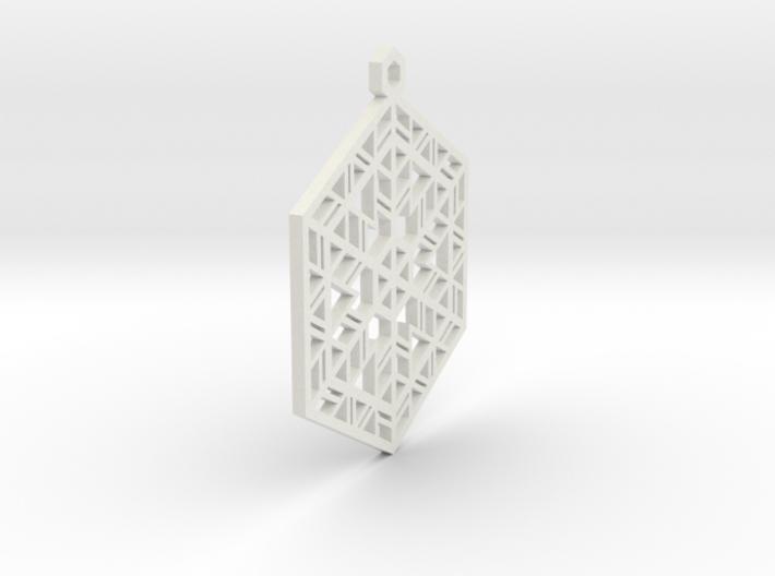 Snowflake Christmas Ornament 3d printed