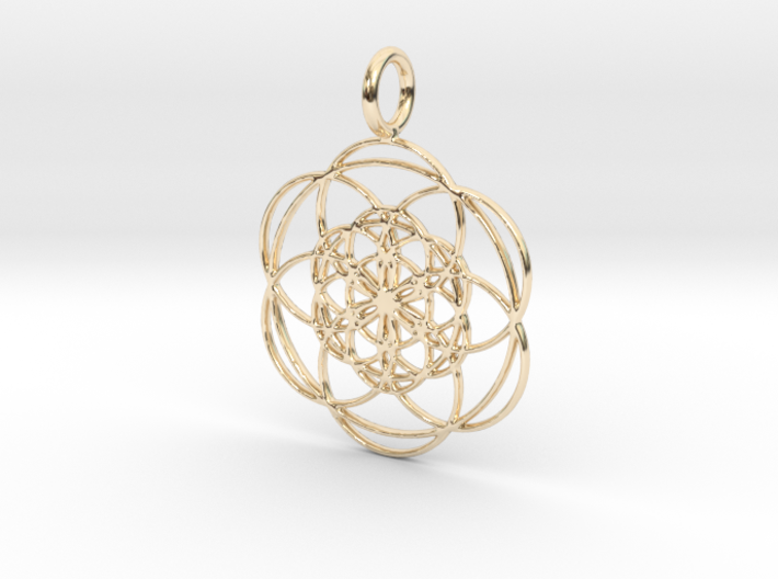 Seed of Life within Seed of Life 40mm 34mm 3d printed