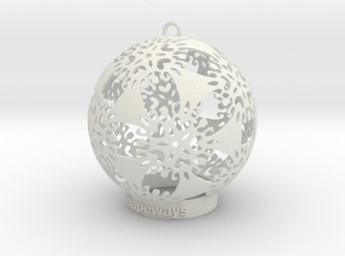 Flower Snowflake Ornament 3d printed