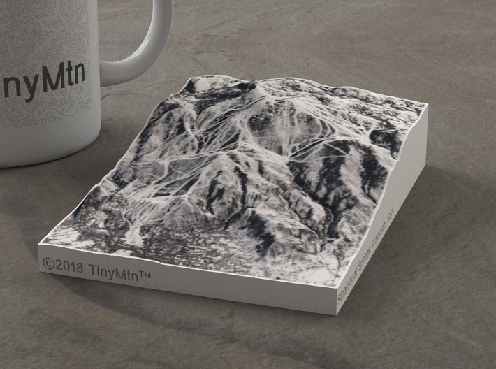 Steamboat in Winter, Colorado, USA, 1:50000 3d printed