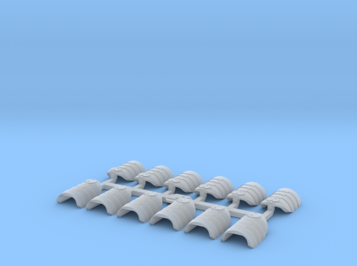 Shoulder Pads Overlap Alfa 1 3d printed