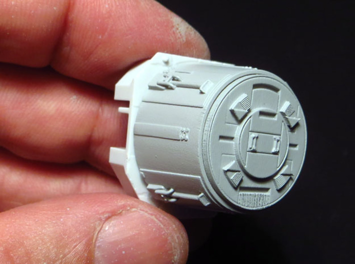 YT1300 BANDAY 1/144 LC MCQUARRIE DOCKING RINGS 3d printed This upgrade fits over the stock docking rings.